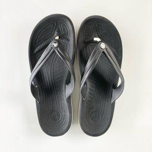 Crocs Black Flip Flop Style Sandals men's 11